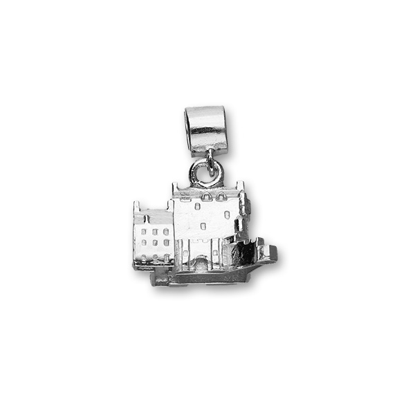 Eilean Donan Castle Sterling Silver Charm For Pandora Style Bracelets Or Necklaces