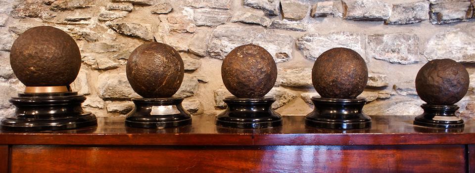 Eilean Donan - cannon balls