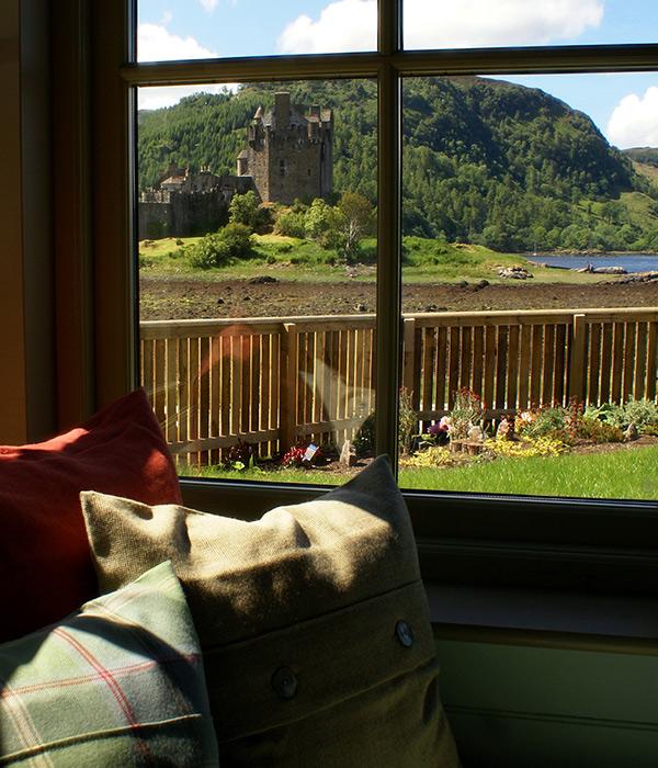 Eilean Donan cottage castle view