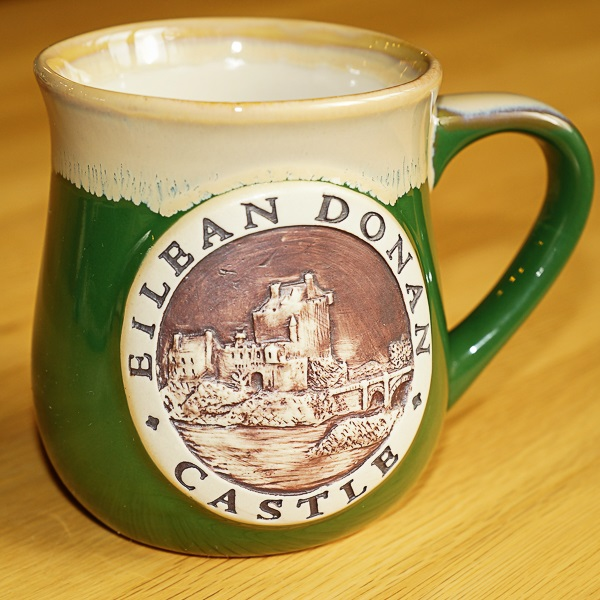 Green Eilean Donan Stoneware Mug